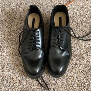 Zara platform lace shoes